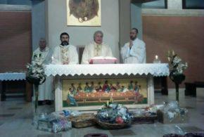 Don Elio presiede la Celebrazione per la Festa della Madonna di Lourdes